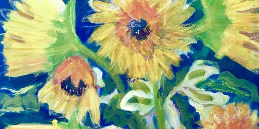 Paint Night - Sunflowers! - relax, paint,  sip, take home your masterpiece!