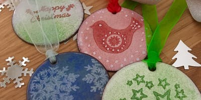 Enamelled Christmas Decorations