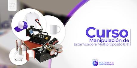 Curso Uso de Estampadora Multiproposito 8 en1 I Santiago  entradas