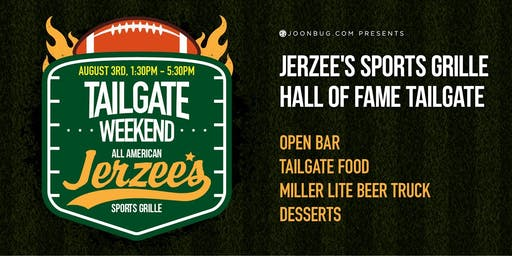 Jerzee's Sports Grille Tailgate – Hall of Fame Ceremony