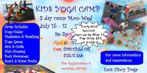 Kids Yoga 3 Day Camp
