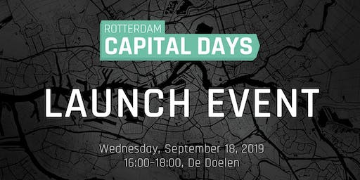 Launch event Rotterdam Capital Days