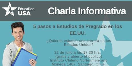 Charla de Pregrado Julio 2019 tickets