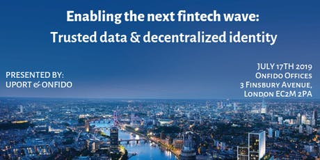 Enabling the next fintech wave: trusted data & decentralized identity tickets