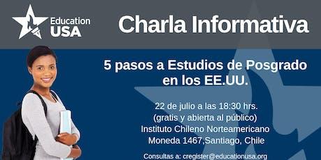Charla de Posgrado Julio 2019 boletos