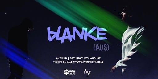 WE MOUVE Presents: BLANKE (AUS)