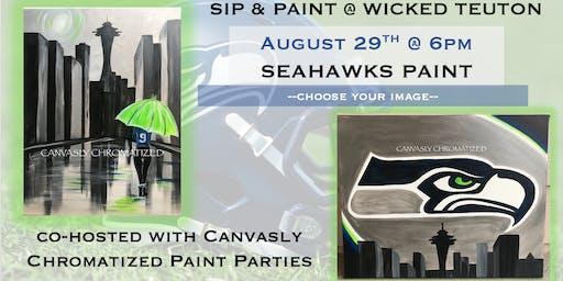 Seahawks Paint @ Wicked Teuton