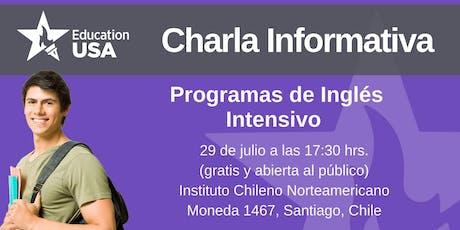 Charla de Inglés Intensivo Julio 2019 entradas