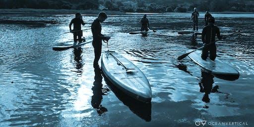Evening paddleboarding