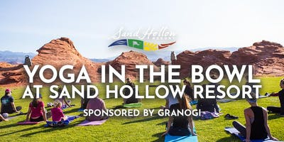 Yoga in the Bowl at Sand Hollow Resort sponsored by GRANOGI