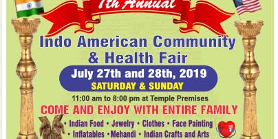 7th Indian American Community & Health Fair!