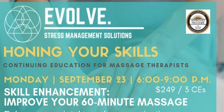Evolve: Stress Management Solutions: Improve your 60-Minute Massage tickets