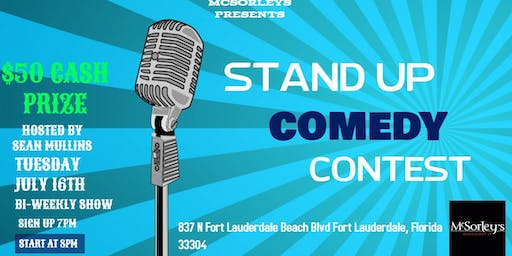 Stand Up Comedy Contest at McSorleys Beach Pub