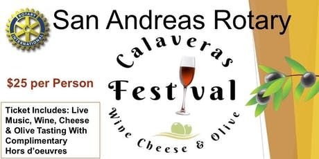 3rd Annual Calaveras Wine, Cheese and Olive Festival tickets