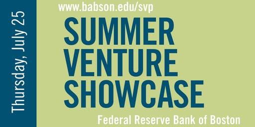 2019 Babson Summer Venture Showcase
