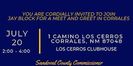 Jay Block | Corrales Meet & Greet  tickets
