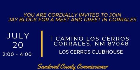 Jay Block | Corrales Meet & Greet