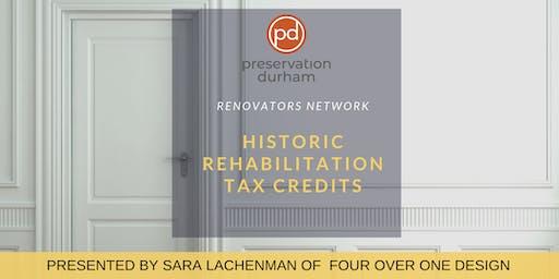 Renovators Network: Historic Rehabilitation Tax Credits