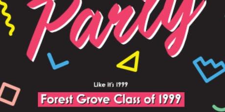 Forest Grove Class of 1999 reunion tickets