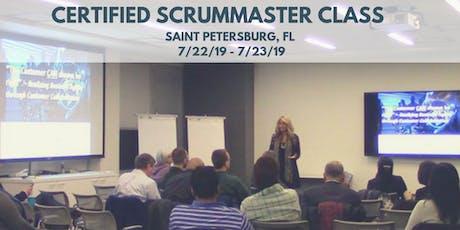 Certified ScrumMaster (CSM) Training Class - in St. Petersburg, FL tickets