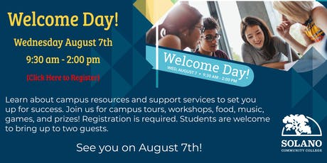 Solano College Welcome Day tickets