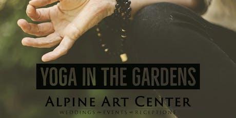 Alpine Art Center Yoga in the Gardens tickets