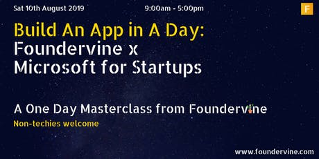 Build An App in a Day: Foundervine x Microsoft for Startups  tickets