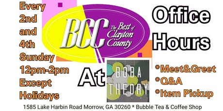 Best of Clayton County Office Hours and COFFEE DRINKS tickets