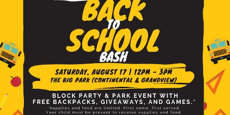 2019 Back to School Bash tickets