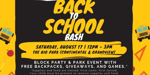 2019 Back to School Bash