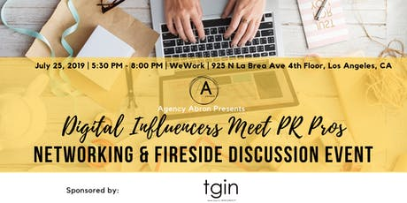 Digital Influencers Meet PR Pros - Networking & Discussion Event tickets