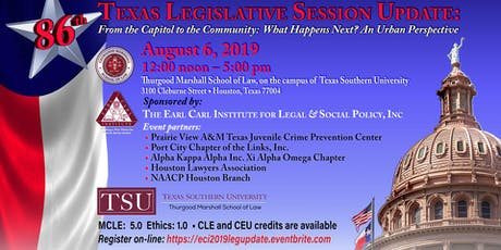86th Texas Legislative Session Update:  From the Capitol to the Community:  What Happens Next? An Urban Perspective tickets