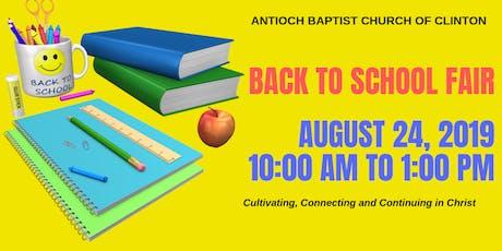 Antioch Baptist Church of Clinton Back To School Fair tickets