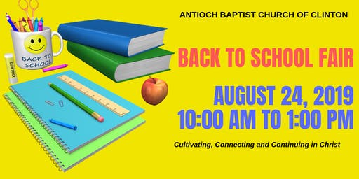 Antioch Baptist Church of Clinton Back To School Fair