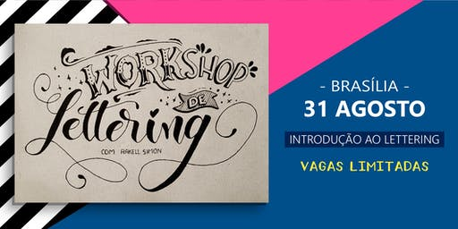 Workshop de Lettering em Brasília - com Rakell Simon