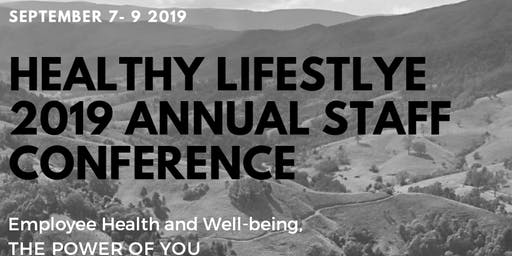 HEALTHY LIFESTLYE 2019 ANNUAL STAFF CONFERENCE