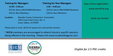 Sexual Harassment Training for Non-Managers tickets