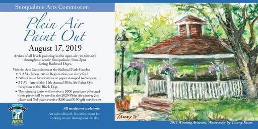 Snoqualmie Plein Air Paint-Out, 2019 (Advance registration)