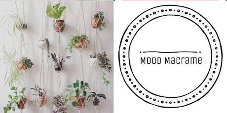 #imadeitmyself  -  macrame plant hanger with Mood Macrame  tickets