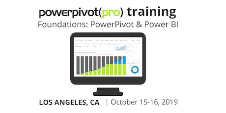 Foundations: Power Pivot and Power BI - Los Angeles 2019 tickets