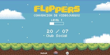 FLIPPERS -  LEVEL 1 - Convención de videojuegos  entradas