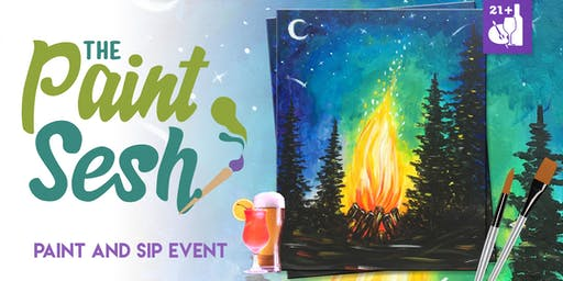 "Paint Night in Riverside, CA - ""Campfire"""