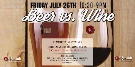Beer VS Wine Dinner with Hidden Sands Brewing Co tickets