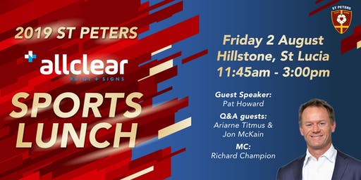 St Peters Sports Lunch 2019