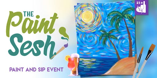 "Paint Night in Sunset Beach, CA - ""Beach Daze"""