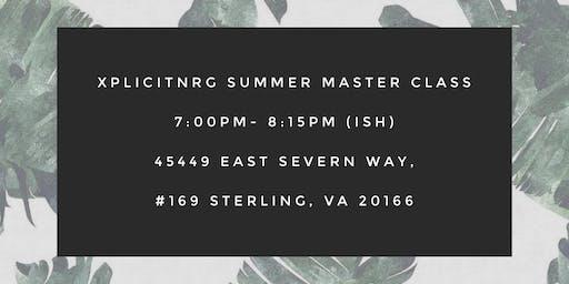 xplicitNRG Summer Master Class