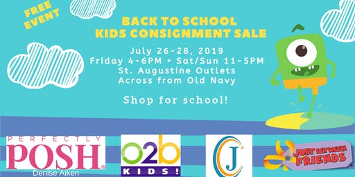 Back to School Kids Consignment Sale