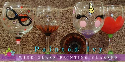 Wine Glass Painting Class at The Melting Pot - 7PM