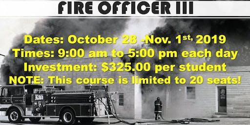 Fire Officer III Class