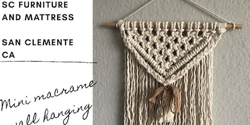 Mini Macrame Wall Hanging Workshop